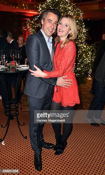 Viola Weiss and her boyfriend Alexander Bagusat during a christmas party at Hotel Vier Jahreszeiten Kempinski on November 26 2015 in Munich Germany