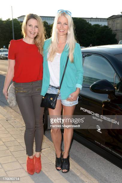 Viola Weiss and Tina Kaiser attends Porsche Design Sport Mountain Loft at University of Television and Film Munich on June 6 2013 in Munich Germany