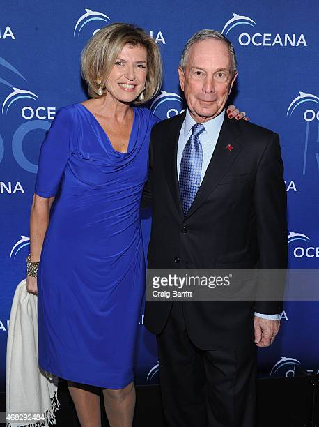 Violaine Bernbach and Former Mayor of New York City Michael Bloomberg attend Oceana's 2015 New York City benefit at Four Seasons Restaurant on April...