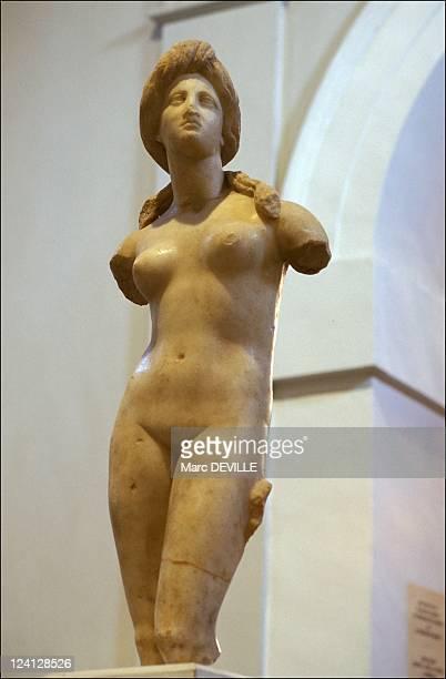 Violaine Vanoyeke In Nicosia Cyprus In October 1998 Nicosie museum Aphrodite statue