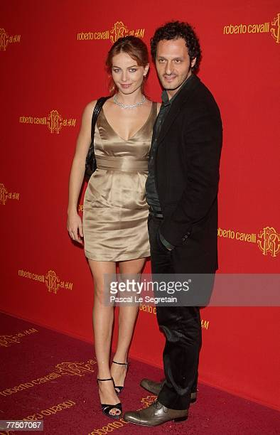 Violante Placido and Fabio Troiano attend Roberto Cavalli at HM collection launch party on October 25 2007 in Rome Italy