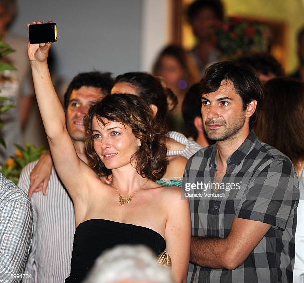 Violante Placido and her Boy Friend Alessandro Gabbini attend day 4 of the Ischia Global Film And Music Festival on July 13 2011 in Ischia Italy
