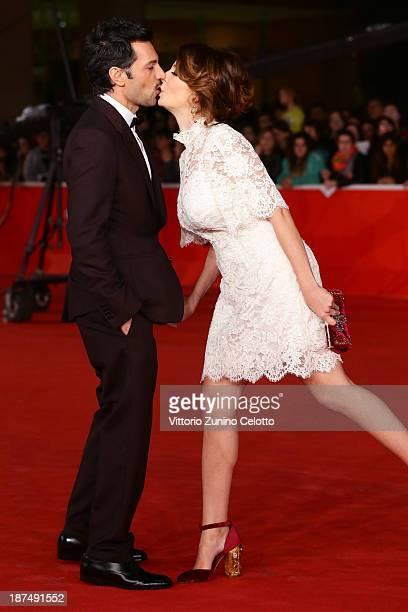 Violante Placido and Massimiliano D'Epiro attend 'Dallas Buyers Club' Premiere And Vanity Fair Award during The 8th Rome Film Festival at Auditorium...