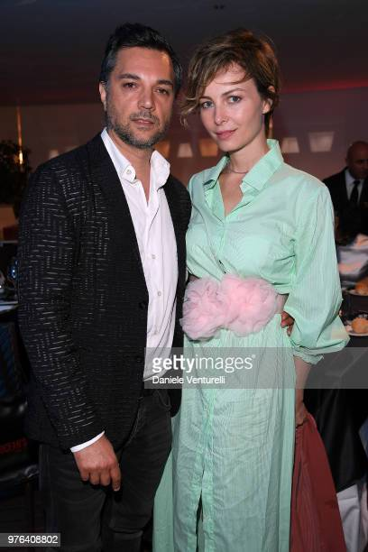 Violante Placido and Massimiliano D'Epiro attend the 'Filming Italy Sardegna Festival' Dinner at Forte Village Resort on June 16 2018 in Santa...