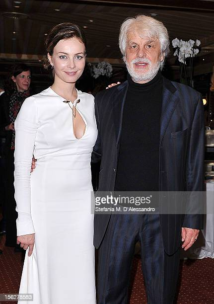 Violante Placido and Michele Placido attend 'The Lookout' Dinner on November 12 2012 in Rome Italy