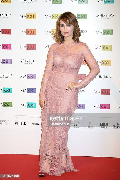 Violante Placido attends a photocall for the MAXXI Acquisition Gala Dinner 2016 at Maxxi Museum on November 7 2016 in Rome Italy
