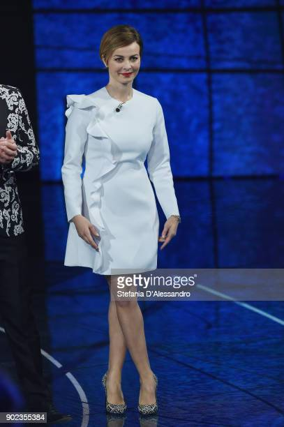Violante Placido attends Che Tempo Che Fa Tv Show on January 7 2018 in Milan Italy