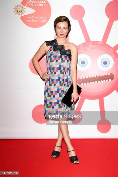 Violante Placido attends Convivio photocall on June 5 2018 in Milan Italy