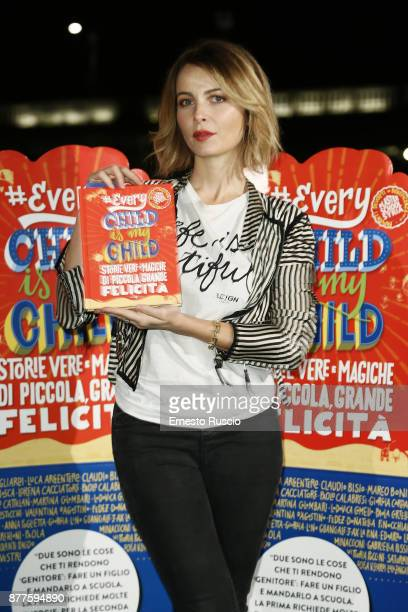 Violante Placido attends #EVERYCHILDISMYCHILD book presentation on November 22 2017 in Rome Italy