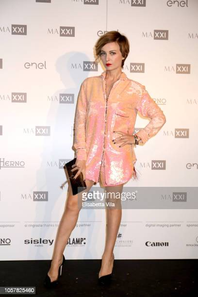 Violante Placido attends MAXXI Acquisition Gala Dinner at Maxxi Museum on November 5 2018 in Rome Italy
