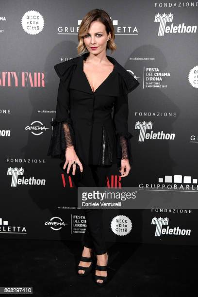 Violante Placido attends Telethon Gala during the 12th Rome Film Fest at Villa Miani on October 30 2017 in Rome Italy