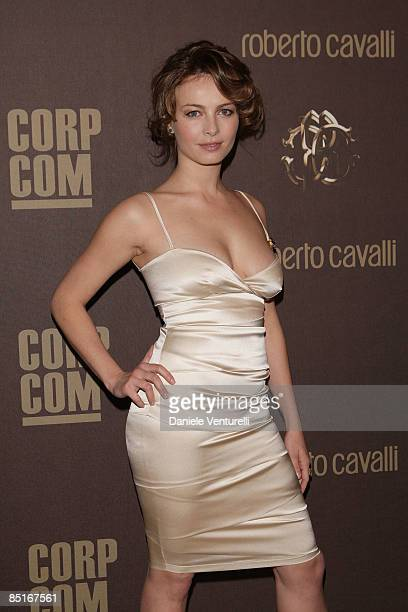 Violante Placido attends ''The Cavalli Card Party'' during Milan Fashion Week Womenswear Autumn/Winter 2009 at the Teatro Franco Parenti on March 1...