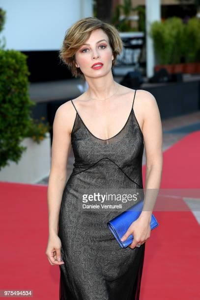 Violante Placido attends the 'Filming Italy Sardegna Festival' Dinner at Forte Village Resort on June 15 2018 in Santa Margherita di Pula Cagliari...