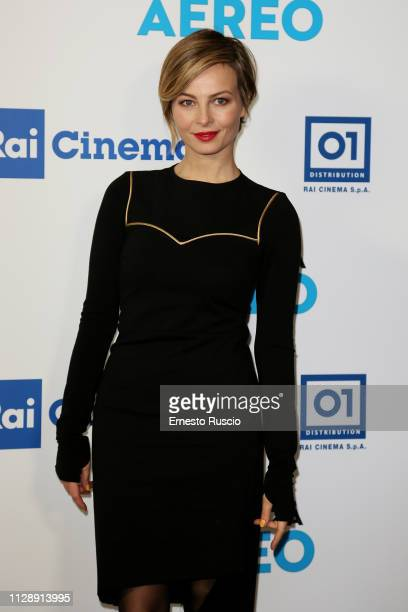 Violante Placido attends the Modalita Aereo photocall at Teatro Eliseo on February 11 2019 in Rome Italy