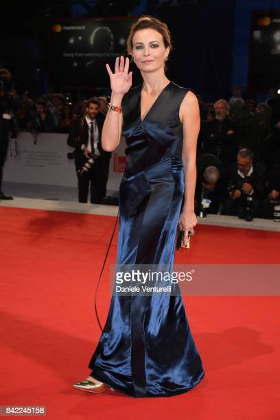 Violante Placido from Kineo delegation walks the red carpet ahead of the 'The Leisure Seeker ' screening during the 74th Venice Film Festival at Sala...