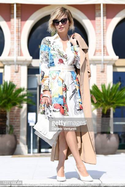 Violante Placido is seen arriving at the 77th Venice Film Festival on September 07 2020 in Venice Italy