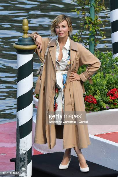 Violante Placido is seen arriving at the Excelsior during the 77th Venice Film Festival on September 07 2020 in Venice Italy