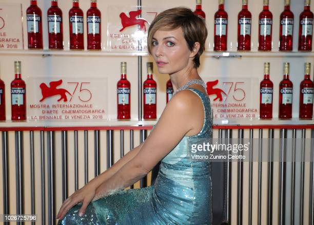 Violante Placido is seen during the 75th Venice Film Festival on September 4 2018 in Venice Italy
