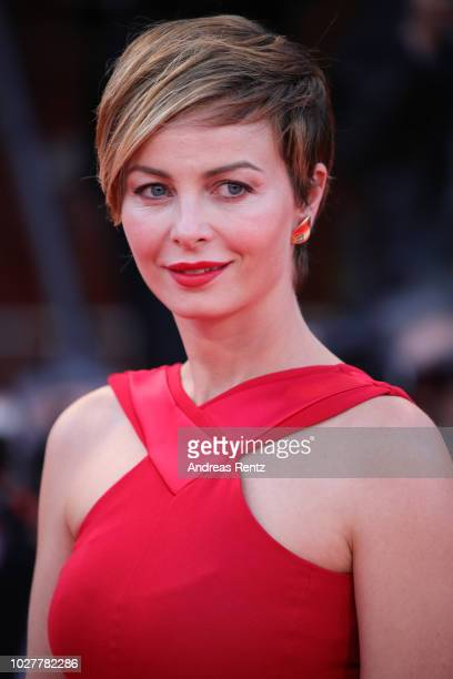 Violante Placido walks the red carpet ahead of the 'CapriRevolution' screening during the 75th Venice Film Festival at Sala Grande on September 6...