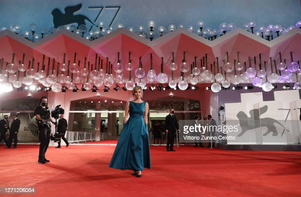 Violante Placido walks the red carpet ahead of the movie Revenge Room at the 77th Venice Film Festival on September 07 2020 in Venice Italy