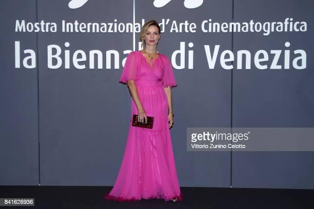 Violante Placido walks the red carpet ahead of the 'Nato A Casal Di Principe' screening during the 74th Venice Film Festival at Sala Giardino on...