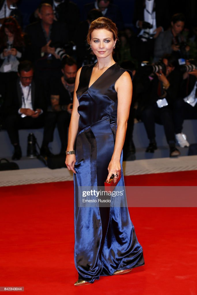 Violante Placido walks the red carpet ahead of the 'Victoria & Abdul' screening during the 74th Venice Film Festival at Sala Grande on September 3, 2017 in Venice, Italy.
