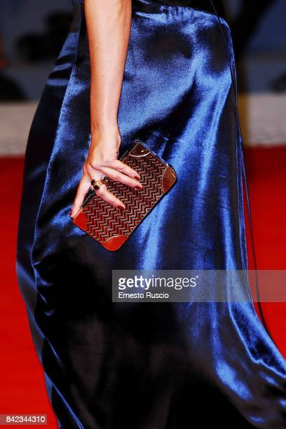 Violante Placido walks the red carpet ahead of the 'Victoria Abdul' screening during the 74th Venice Film Festival at Sala Grande on September 3 2017...
