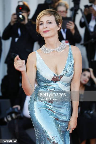 Violante Placido walks the red carpet ahead of the 'Vox Lux' screening during the 75th Venice Film Festival at Sala Grande on September 4, 2018 in...