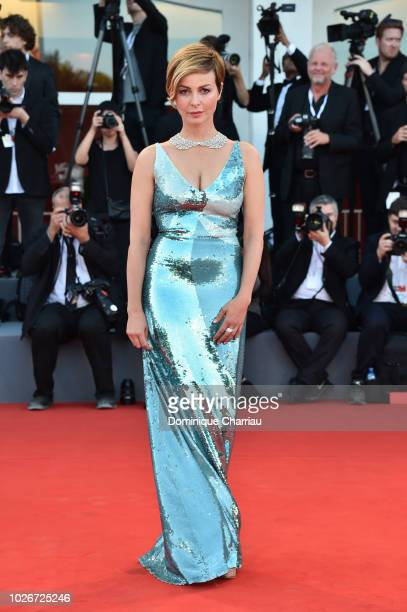Violante Placido walks the red carpet ahead of the 'Vox Lux' screening during the 75th Venice Film Festival at Sala Grande on September 4 2018 in...