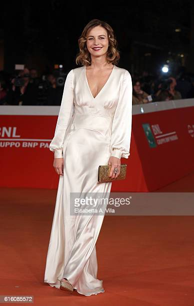 Violante Placido walks the red carpet for '7 Minuti' during the 11th Rome Film Festival at Auditorium Parco Della Musica on October 21 2016 in Rome...