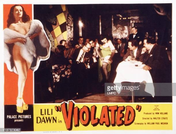Violated, lobbycard, center: Lili Dawn on lobbycard, 1953.