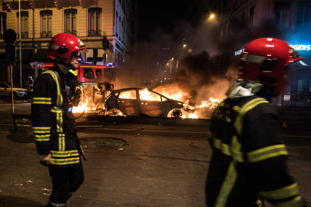 FRA: Violence In Lyon After Algeria's Africa Cup of Nations Semi-final Win