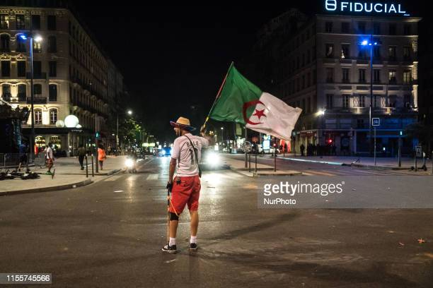 Violence broke out between Algerian supporters and the police in Lyon France on 14 July 2019 which celebrated for several hours the victory of...
