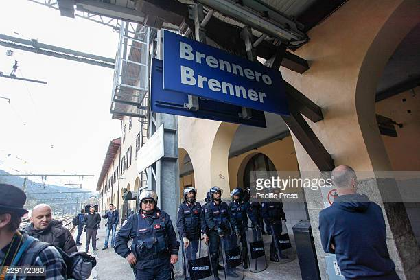 PASS BRENNERO BOLZANO ITALY Violent clashes broke out in the Italian side of the Brenner Pass between riot police and maskwearing protesters during a...