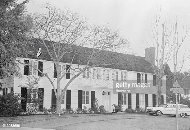 Violent Death Enters a Quiet Home Beverly Hills California A view of the Beverly Hills home of actress Lana Turner where Johnny Stompanato frequent...