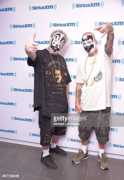 Violent J and Shaggy 2 Dope of Insane Clown Posse visit SiriusXM Studios on September 14 2017 in New York City