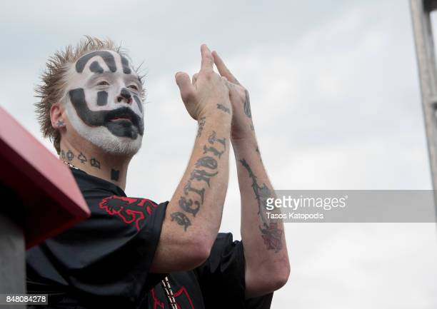 Violent J of Insane Clown Posse speaks before the Juggalo March takes off from the Lincoln Memorial on the National Mall on September 16 2017 in...