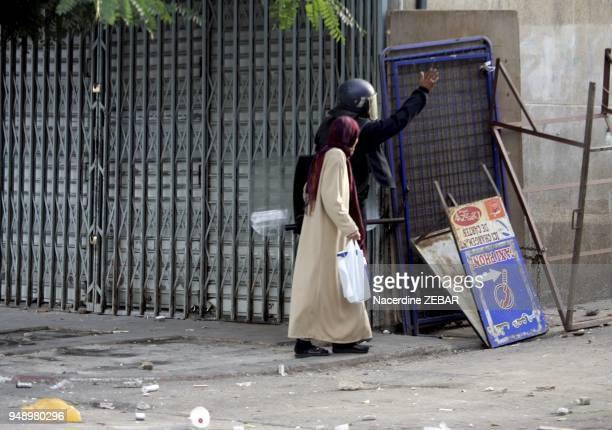 Violent riots In Belcourt district in Algier Algeria on January 7 2011