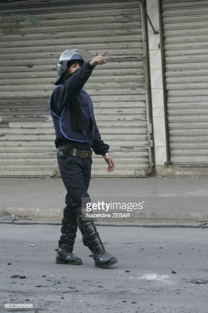 Violent riots In Belcourt district in Algier Algeria on January 7 2011