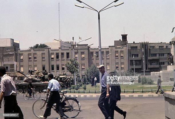 Violent Riots In Iran After The Arrest Of Ayatollah Khomeini Iran Juin 1963 Violentes manifestations provoquées par l'arrestation de l'ayatollah...
