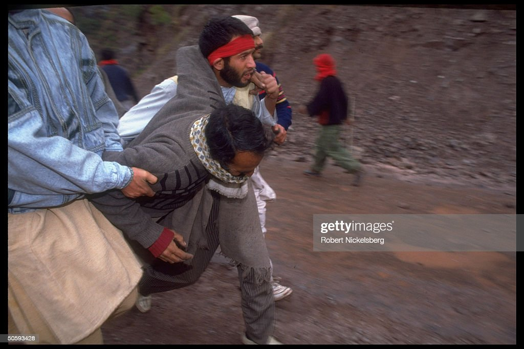 Violently police-halted JKLF march, Muza : News Photo