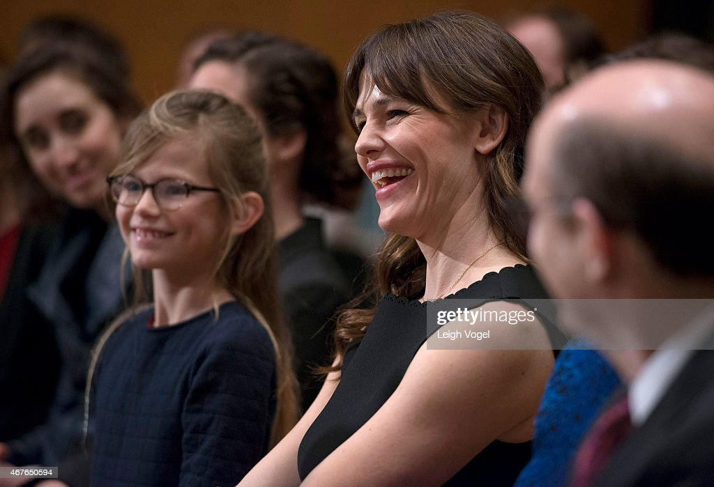 Violet Affleck and Jennifer Garner attend the Diplomacy, Development, And National Security Hearing on March 26, 2015 in Washington, DC.