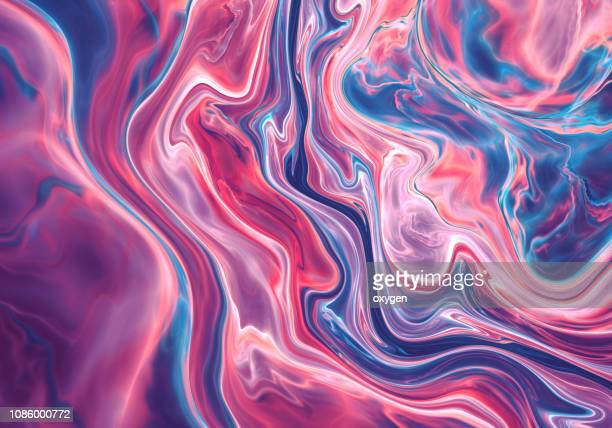 violet and blue abstract painted marble illustration - marble stock pictures, royalty-free photos & images