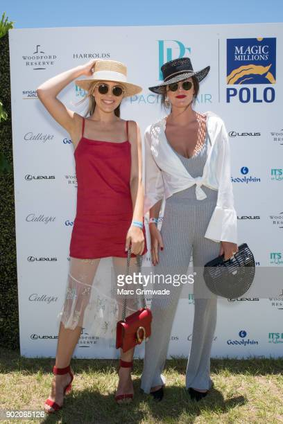 Violet Atkinson and Elise Park attend Magic Millions Polo on January 7 2018 in Gold Coast Australia