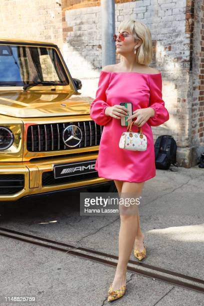 Violet Atkinson attends MercedesBenz Fashion Week Resort 20 Collections on May 13 2019 in Sydney Australia