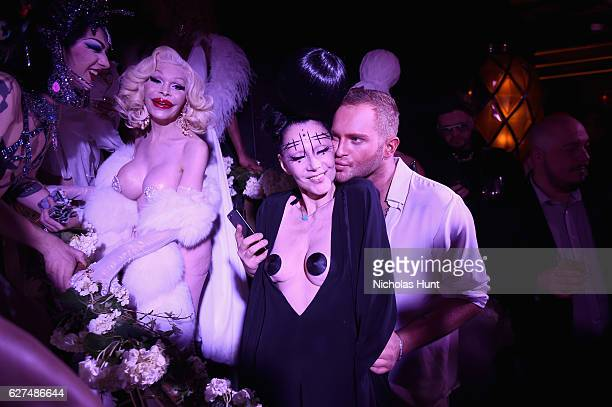 Violet Chachki Amanda Lepore Susanne Bartsch and August Getty attend the August Getty 305 cocktail party with hosts August Getty and Susanne Bartsch...