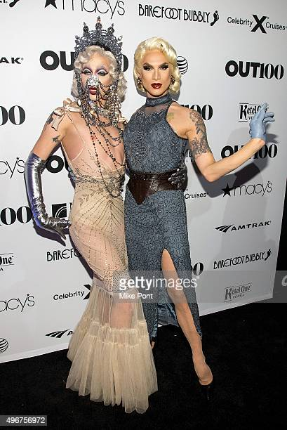 Violet Chachki and Miss Fame attend the 2015 OUT 100 Celebration at Guastavino's on November 11 2015 in New York City