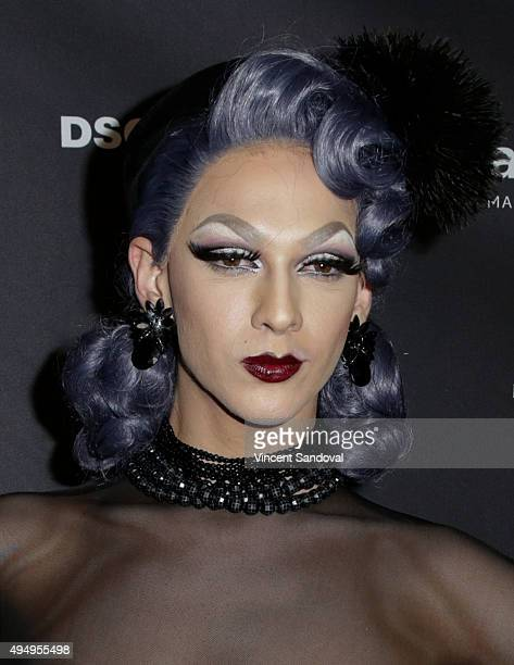 Violet Chachki attends amfAR's Inspiration Gala Los Angeles after party at 1OAK on October 29 2015 in West Hollywood California