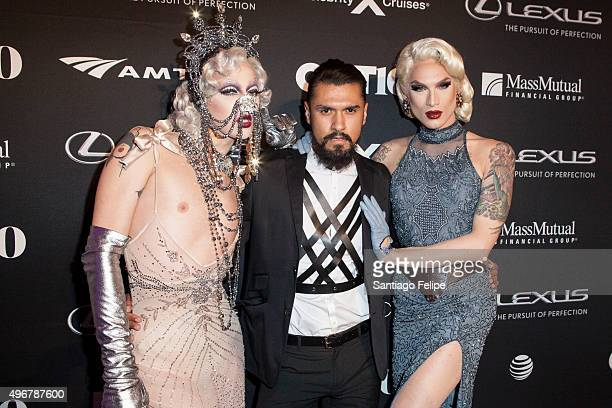 Violet Chachki Boomer Banks and Miss Fame attend 2015 Out100 Celebration at Gustavino's on November 11 2015 in New York City