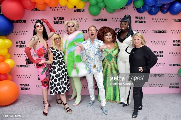 LR0 Violet Chachki Diane AndersonMinshall Kim Chi Carson Kressley Ginger Minj Bob the Drag Queen and Susan Vance attend Beverly Center x The Advocate...